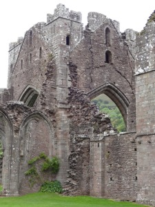 Central tower at Llanthony Priory